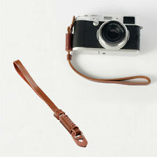 Brown Genuine Leather Camera Hand Wrist strap For Fuji Pentax Samsung Sony New