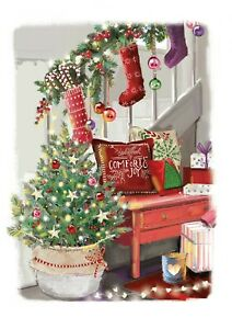 St Ann's Hospice Charity Christmas Cards 'Deck the Halls' Pack of 10 Cards
