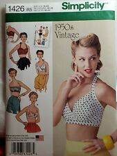 Sewing Pattern Plus Size Halter Bra Top 50s Style R5 Sz 14-22 Simplicity 1426