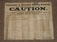 1903 Lancashire&Yorkshire Railway Poster List Of Prosecutions With Names+Address