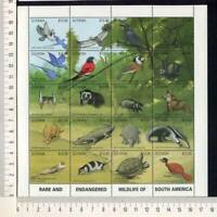 36430) Guyana 1990 MNH Rare Animals 20v M/S