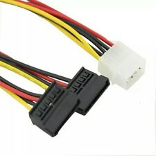 4 Pines IDE Molex A Doble Sata Y Splitter PC Cable Adaptador De Alimentación Enchufe