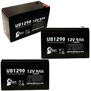 3x 12V 9Ah Sealed Lead Acid Battery For MINUTEMAN PRO1500E UB1290