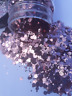 Chunky Rose Gold polyester glitter mix 2 oz in a shaker bottle