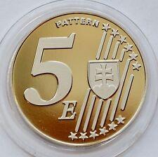 5 EURO coin, PATTERN, Slovakia 2003 - Pope John Paul II
