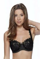 Lepel Fiore Underwired Full Cup Bra 0932290 Black * New Lace Lingerie