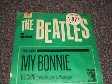 The Beatles My Bonnie w/Tony Sheridan 45 record w/PS MGM