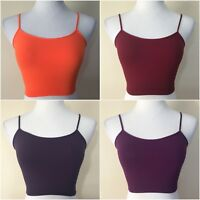 RECOVER Seamless Bra Top One Size Spaghetti Straps Bustier Smooth Cami Yoga Gym