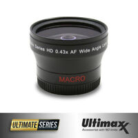 ULTIMAXX 0.43x 37mm Wide Angle Lens With Macro - Brand New
