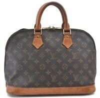Authentic Louis Vuitton Monogram Alma Hand Bag M51130 LV B6087