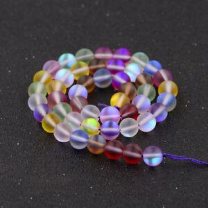 2021 6mm -8mm-10mm-12mmm Mystic Aura Quartz Gemstone Loose Beads 15inch AAA