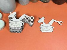 WOODEN ETCHED MOON BUGGY Shapes 10cm (x 10) wood shape crafts blanks