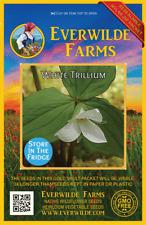 40 White Trillium Wildflower Seeds - Everwilde Farms Mylar Seed Packet