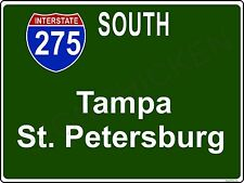 Mini Interstate Sign, i275, TAMPA ST. PETERSBURG, FLORIDA, decor, novelty sign