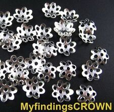 3000 pcs silver plated flower bead caps 6mm
