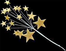 Metallic gold icing shooting star burst birthday cake topper decoration (med)