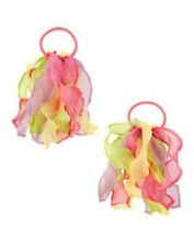 GYMBOREE BIRTHDAY SHOP MULTI COLOR ORGANZA PONYTAIL HOLDER 2-ct NWT