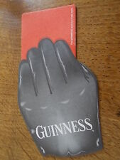 Collectable Guinness Memorabilia Beer Mat Red & Yellow Card Rugby Football Ref