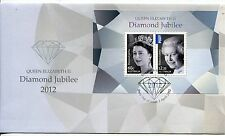 2012 Diamond Jubilee Queen Elizabeth II (Mini Sheet) FDC - Elizabeth SA 5112