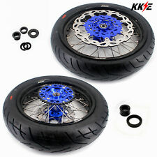 KKE 3.5/4.25 Supermoto Cush Drive Wheels Set Tires for Yamaha Wr250f Wr450f 2018