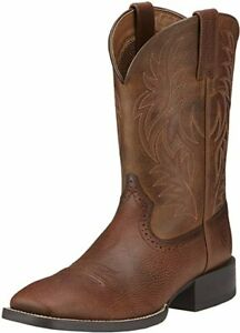Ariat Men's Sport Wide Square Toe Western Country Leather Work Boot 10.5 D