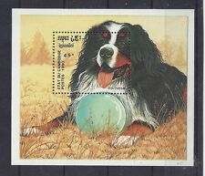 Art Head Study Postage Stamp BERNESE MOUNTAIN DOG Souvenir Sheet Cambodia MNH