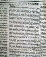 Rare CONFEDERATE Memphis TN at Greneda MS w/ ANTIETAM Civil War 1862 Newspaper