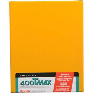 """Kodak T-Max 400 B&W Negative Sheet Camera Film (4 x 5"""", 10 Sheets)"""