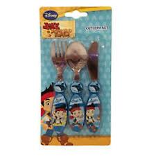 Cutlery Set Kids Disney Character Knife Fork Spoon Frozen Spiderman Peppa 3pcs Jake and The Neverland Pirates