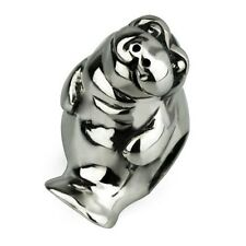 Sterling Silver Ohm Manatee Bead Charm Aaa015