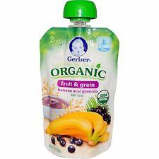 Organic Baby Food, Fruit & Grain, Banana Acai Granola, 3.5 oz (99 g)