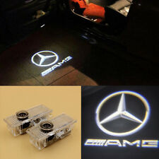 2 LED Door Step Laser Courtesy Projector Ghost Shadow Light For Benz CLA CLS AMG