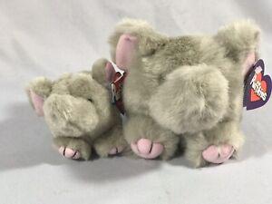 NWT Swibco Puffkin ELLY Elephant Plush & KEYRING Keychain