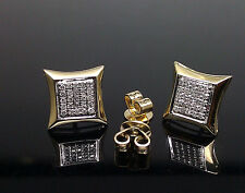 Kite Shaped Earring of 10 K yellow Gold, 0.15 CT Diamond Men/Women,In New Design