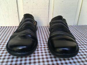 Naot Women's genuine leather mules Size EU 41, US 10. Black