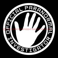 """OFFICIAL PARANORMAL INVESTIGATOR"" sci fi,ghost hunter,ufo,bigfoot decal sticker"