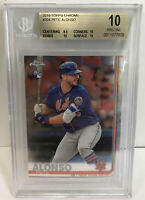 2019 Topps Chrome #204 Pete Alonso New York Mets RC Rookie BGS 10 PRISTINE
