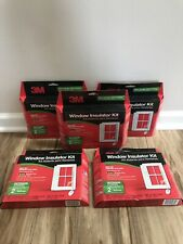 3M  3'x5' OUTDOOR Window Insulator Kit Clear Film & Scotch TAPE 2/box Lot 5
