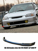 Fits 96-98 HONDA CIVIC EK 3DR CTR TYPE R FRONT LIP REAL JDM PP BLACK