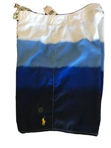 Men's NWT $65 Polo Ralph Lauren Blue/White Board Shorts - Size 32