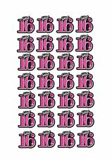 28 Precortada Niñas Dulce 16 Cumpleaños Stand Up Comestibles Cupcake Fairy Cake Toppers