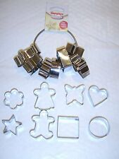 8 Piece Cookie Cutter Set Biscuit Pastry Stainless Steel - All different Shapes