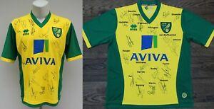 2013-14 Norwich City Home Shirt Squad Signed inc. Hoolahan, Johnson & Ruddy COA