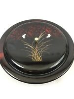"""Covered Lazy Susan with 5 Divided Sections made in Japan Lacquered Appearing 14"""""""