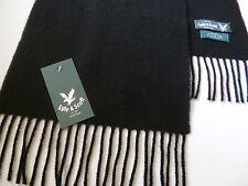 Lyle & Scott black lambswool scarf NEW mens womens ladies wool woollen