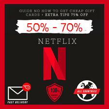 2021 NETFLIX GIFT CARD 50-100% DISCOUNT GUIDE WATCH CHEAP + TIPS (SAVE 100%)