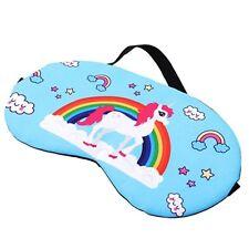 Unicorn Blue Soft Eye Mask Cotton Eyemask Blindfold Travel Relax Sleep Mask UK