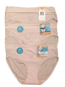 NEW VANITY FAIR Light & Luxe Bikini Panties Ultra Soft Style 18196 3 PAIR 7/L