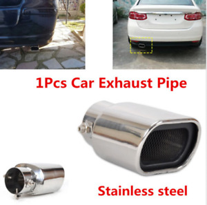 2.5'' Chrome Car Accessories Stainless Steel Rear Exhaust Pipe Tail Muffler Tip