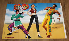 Tekken 3 very rare  Poster 80x54cm Lei Wulong / Eddy Gordo / Nina Williams